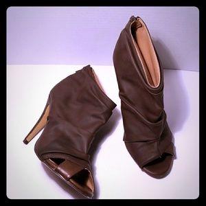Michael Antonio open toe heel ankle booties sz 8